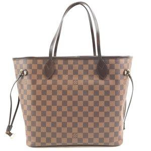 Neverfull  Brown Damier Ébène Canvas Shoulder Bag